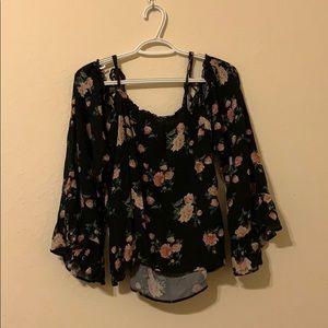 Off the shoulder flower blouse